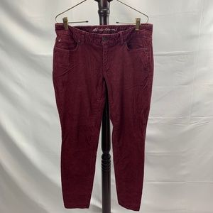 Eddie Bauer Slightly Curvy Skinny Corduroy Pants
